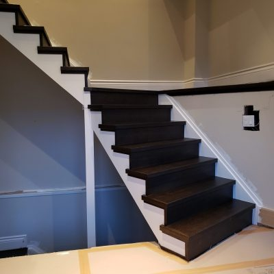 brown-modern-stairs-refinishing-vaughan-woodbridge