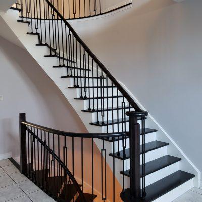 dark-brown-stairs-refinishing-woodbridge